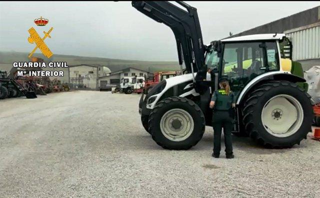 Uno de los tractores afectados por la presunta estafa