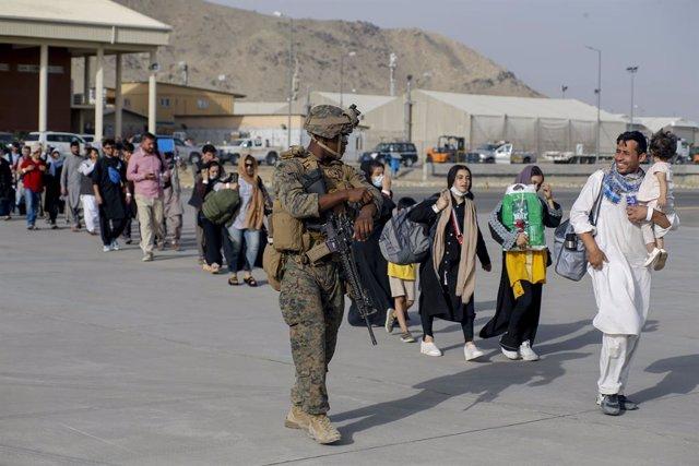 Evacuaciones en el aeropuerto de Kabul