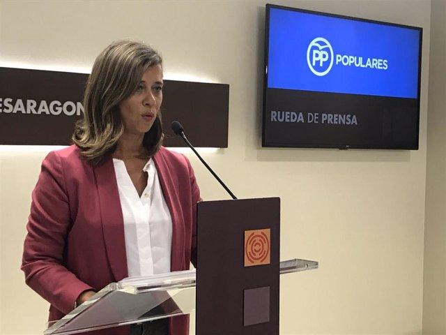 Archivo - Foto de archivo de la diputada del PP en las Cortes de Aragón, Marian Orós.