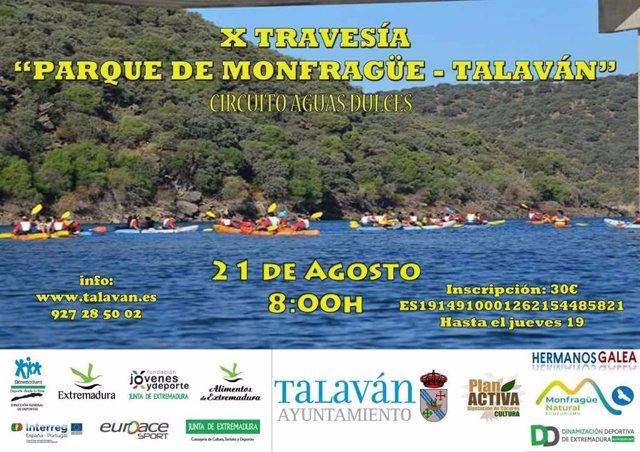 Cartel de la X Travesía Parque de Monfragüe-Talaván
