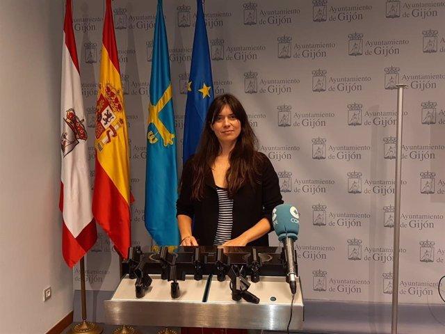 Archivo - Laura Tuero, portavoz de Podemos-Equo Xixón