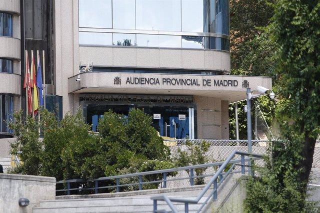 Archivo - Fachada de la Audiencia Provincial de Madrid
