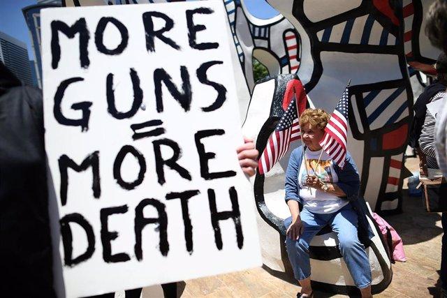 Manifestación contra el uso de armas en Estados Unidos
