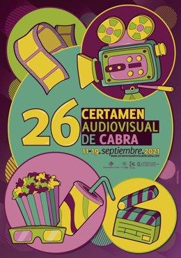 Cartel de Noemí Sinobas para el 26 Certamen Nacional de Creación Audiovisual de Cabra.