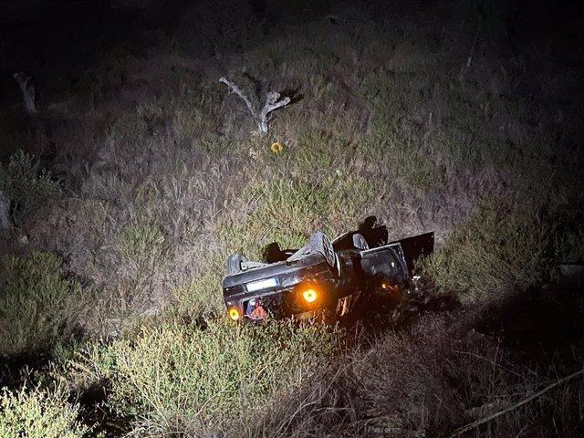 El vehículo accidentado