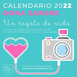Campaña del concuros fotográfico para el calendario 'Dona Sang 2022'