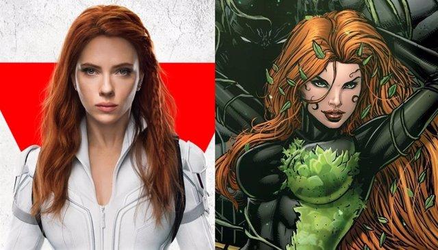Así luce Scarlett Johansson como Hiedra Venenosa en DC