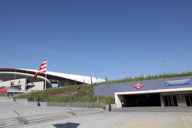 Archivo - Estación de Metro Estadio Metropolitano.