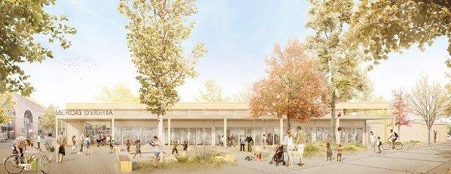 Barcelona adjudica el projecte per construir el Mercat provisional d'Horta.