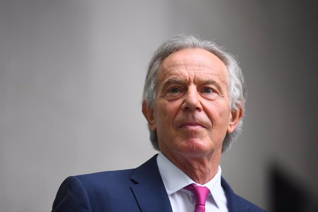 Archivo - 06 June 2021, United Kingdom, London: Former UKPrime Minister Tony Blair arrives at BBC Broadcasting House in central London for his appearance on the BBC1 current affairs programme, The Andrew Marr Show. Photo: Victoria Jones/PA Wire/dpa