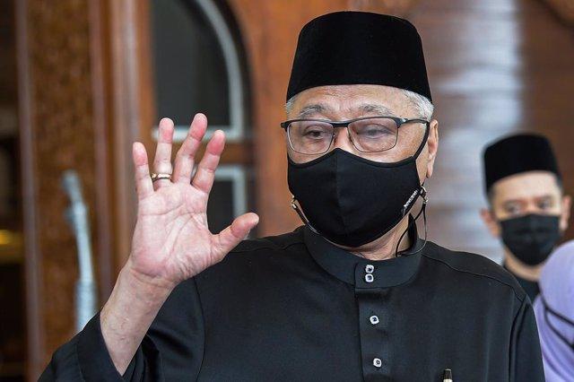 21 August 2021, Malaysia, Kuala Lumpur: Malaysian new Prime Minister Ismail Sabri Yaakob leaves the National Palace (Istana Negara) after attending his sworn-in ceremony as Malaysia's ninth prime minister. Photo: Shafiq Hashim/BERNAMA/dpa