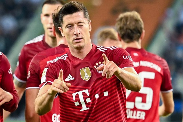 El polonès Robert Lewandowski celebra un gol amb el Bayern Munic aquesta temporada