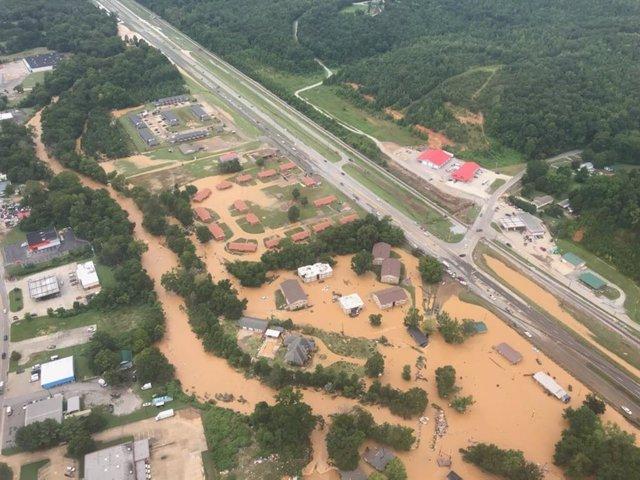 Inundaciones en Nashville (Tennessee), en Estados Unidos