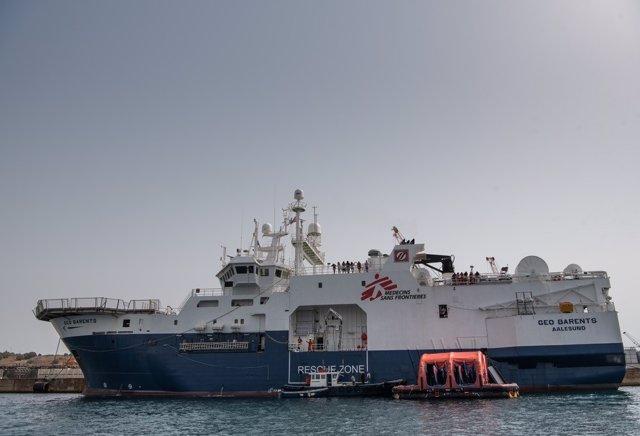 Archivo - Barco de rescate Geo Barents de Médicos sin Fronteras