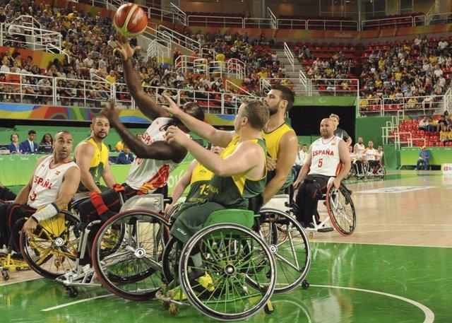 Archivo - España-Australia en el baloncesto en silla de ruedas de Río 2016