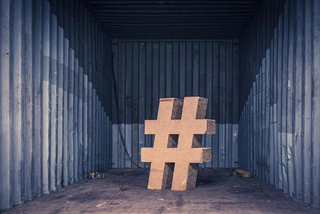 Recurso de una almohadilla por el Día Internacional del Hashtag.