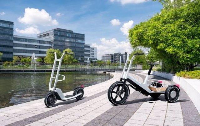 La bicicleta electrificada Dynamic Cargo y el scooter eléctrico Clever Commute, los prototipos de movilidad que ha desarrollado BMW.
