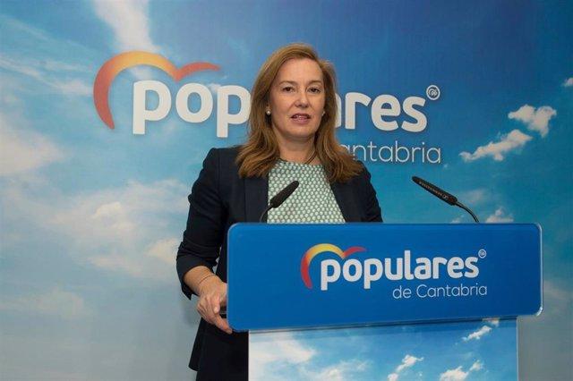 Archivo - La secretaria autonómica del PP de Cantabria, María José González Revuelta