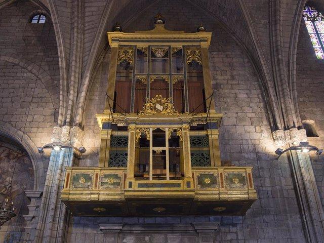Archivo - Arxivo - Vista general de l'òrgan de la Catedral de Solsona (Lleida)