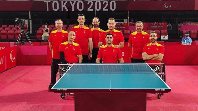 Los ocho jugadores de tenis de mesa que competirán en los Juegos Paralímpicos de Tokio