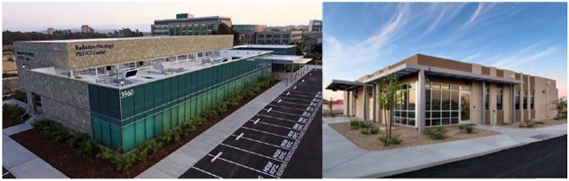 RAD has provided radiotherapy facilities to some of the world's most prestigious cancer centers. Shown above is UCSD La Jolla, CA (left) and Banner MD Anderson Sun City, AZ (right).