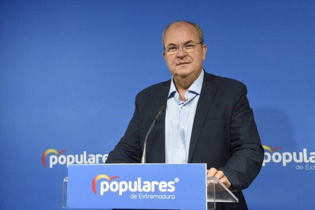 El presidente del PP de Extremadura, José Antonio Monago, en una foto de archivo