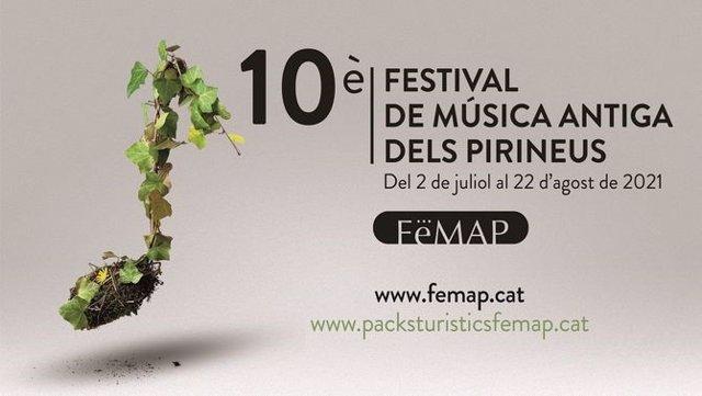 Archivo - Cartell del desè Festival de Música Antiga dels Pirineus (Femap).