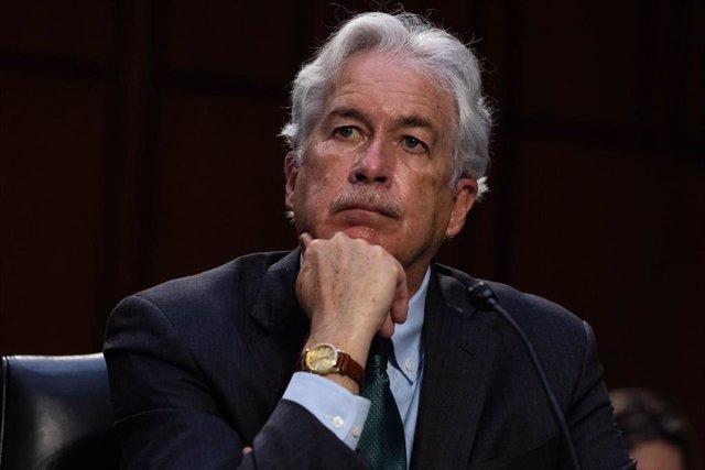 Archivo - William Burns, director de la CIA, en una comparecencia ante el Senado