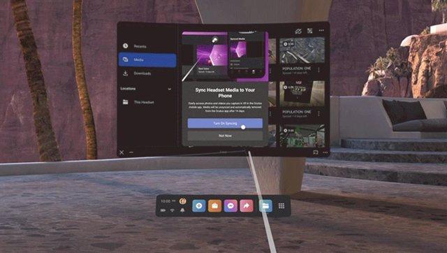Compartir archivos con el móvil en Oculus v32.