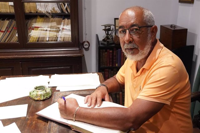 El escritor, periodista, guionista y crítico literario cubano Leonardo Padura, en su visita a Huelva.