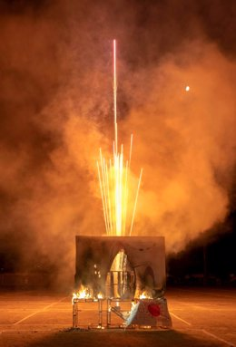 Tradicional quema de 'El Penas'