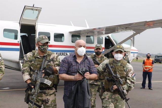 Kassem Mohamad Hijazi, sancionado por EEUU por corrupción en Paraguay y detenido por la Secretaría Antidrogas del país sudamericano.