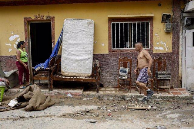 Archivo - Caracas  afectada por lluvias en junio de 2021