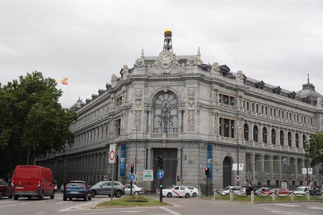 Archivo - Sede del Banco de España el día que ha publicado su informe anual, a 13 de mayo de 2021, en Madrid (España).