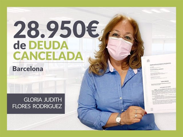 Gloria Judith Flores, exonerada con Repara Tu Deuda