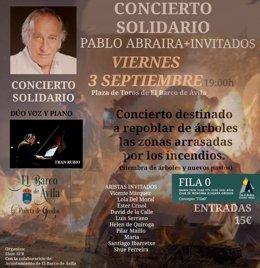 Cartel de la actuación en El Barco de Ávila.