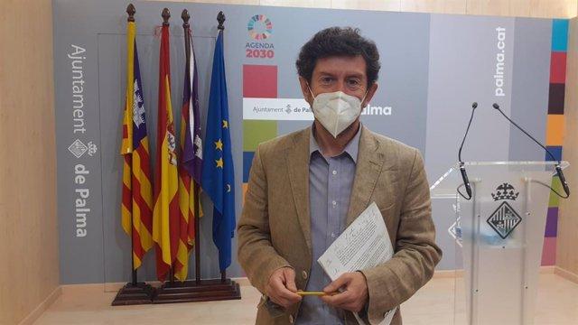 Archivo - El portavoz del Ayuntamiento de Palma, Alberto Jarabo.