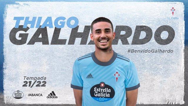 Archivo - Bienvenida del Celta de Vigo al delantero brasileño Thiago Galhardo, cedido por el Internacional de Porto Alegre