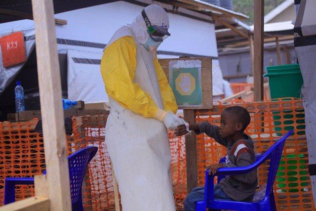Archivo - Un centro de tratamiento contra el ébola en Beni, República Democrática del Congo (RDC)