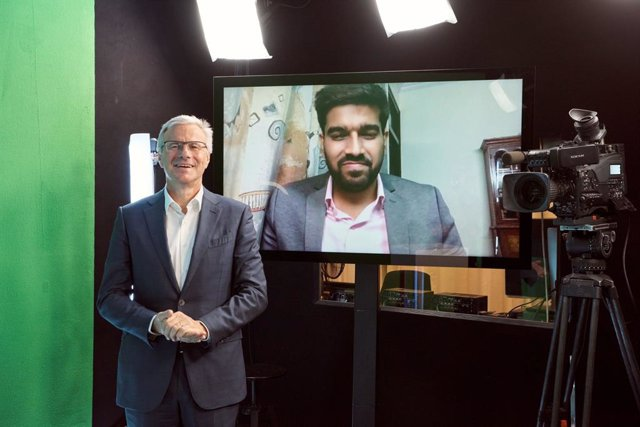 Adecco Group, CEO, Alain Dehaze and Mani Makkar, the Adecco Group's 2021 Global CEO for One Month