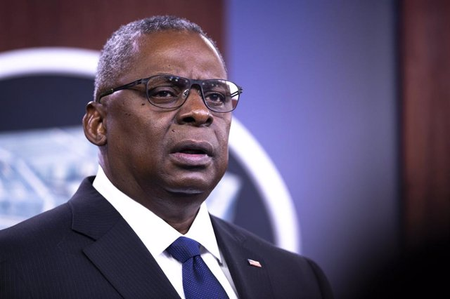 18 August 2021, US, Arlington: US Secretary of Defence Lloyd Austin speaks during a press conference on the situation in Afghanistan at the Pentagon. Photo: Ssgt. Julian Kemper/Dod/Planet Pix via ZUMA Press Wire/dpa