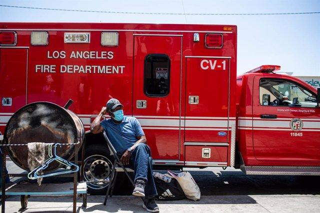 Archivo - Pandemia de coronavirus en el distrito de Skid Row (Los Ángeles)