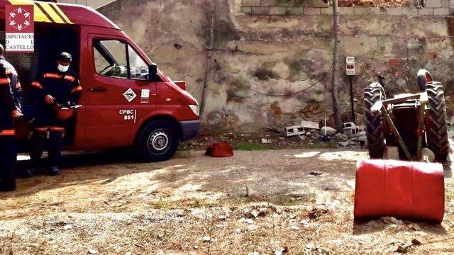Fallece un hombre atrapado bajo su tractor
