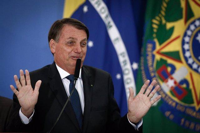 Archivo - El presidente de Brasil, Jair Bolsonaro