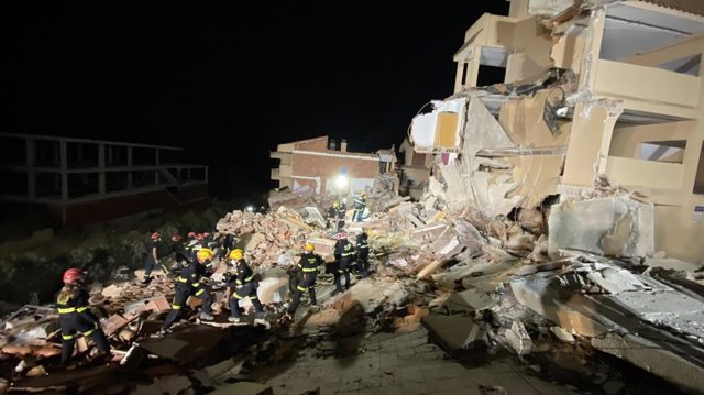 Edifici esfondrat a Peníscola