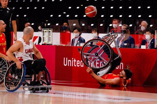 Imagen del partido entre España y Canadña en los Juegos Paralímpicos de Tokio