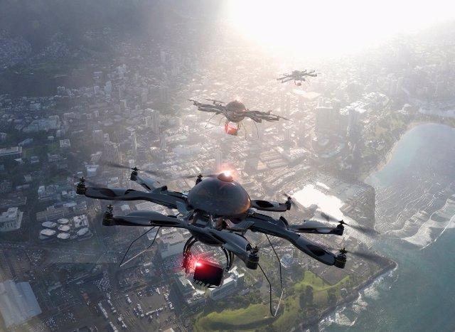 Archivo - Drones.