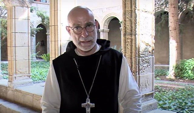 El Pare Abad Octavi Vilà durant la seva declaració