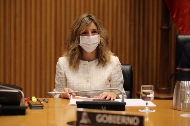 Archivo - Arxivo - La ministra de Treball, Yolanda Díaz, al Congrés.