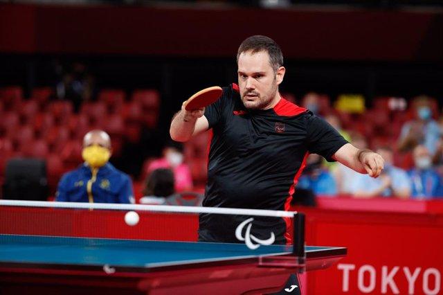 Jordi Morales durante uno de sus partidos en los Juegos Paralímpicos de Tokio